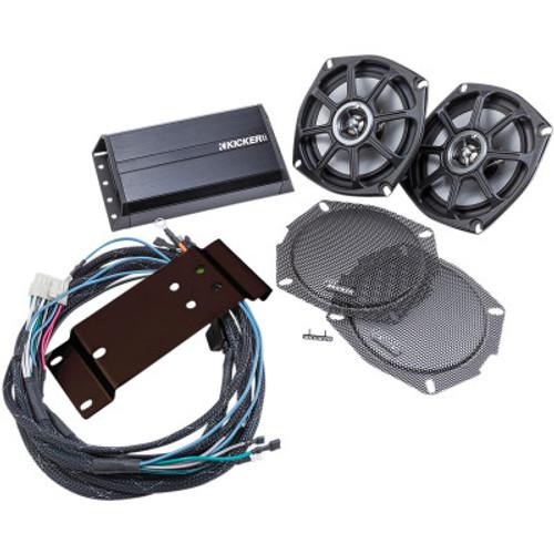 Kicker Coaxial Speaker/Amp Kit for 1998-2013 Road Glide