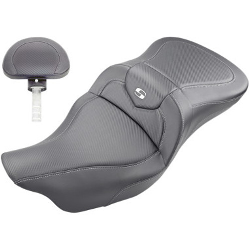Saddleman Road Sofa CF Seat with Backrest for 2008-2020 Touring