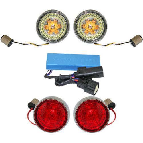 Custom Dynamics Probeam Bullet Bezel Turn Signal Insert Kits for 2010-2013 Road Glide & Street Glide