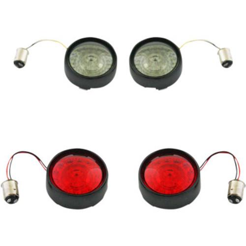 Custom Dynamics Probeam Bullet Bezel Turn Signal Insert Kits for 2012-2020 HD (various models)