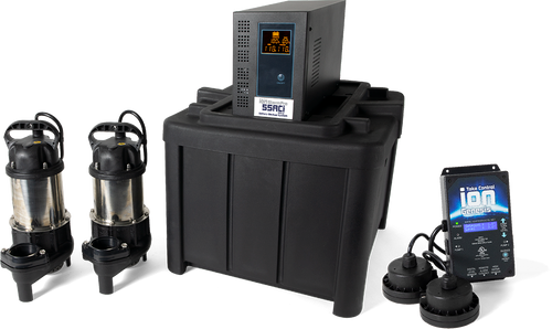55ACi Deluxe Sump Pump Dual Battery Backup System (MET20373)