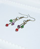 Lagom Agate Cluster Earrings side view on white scalloped background