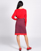 Lagom Bloomsbury Skirt back view, worn by model on grey background