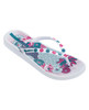 Lagom Ipanema Anatomica Lovely Flipflops White front view of single sandal on white background