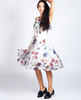 Lagom  Lavinia Dress Floral movement view on model on grey background
