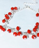 Lagom Cherry Bracelet Red detailed view on grey background
