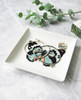 Lagom Butterfly Vintage Style Trinket Tray side lifestyle view on marble background