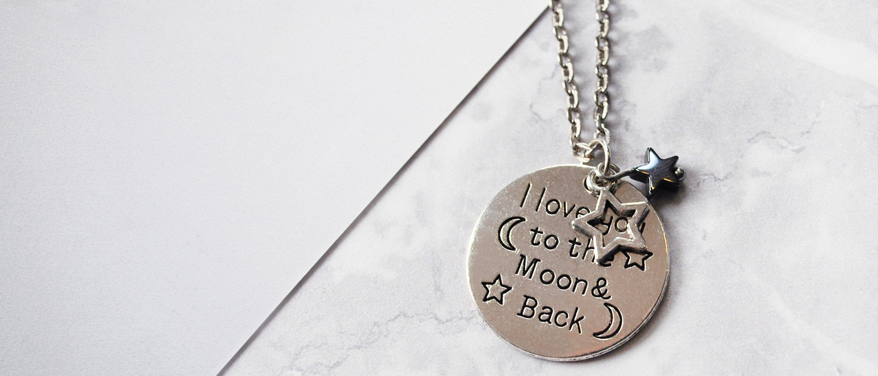 lagom moon and back necklace