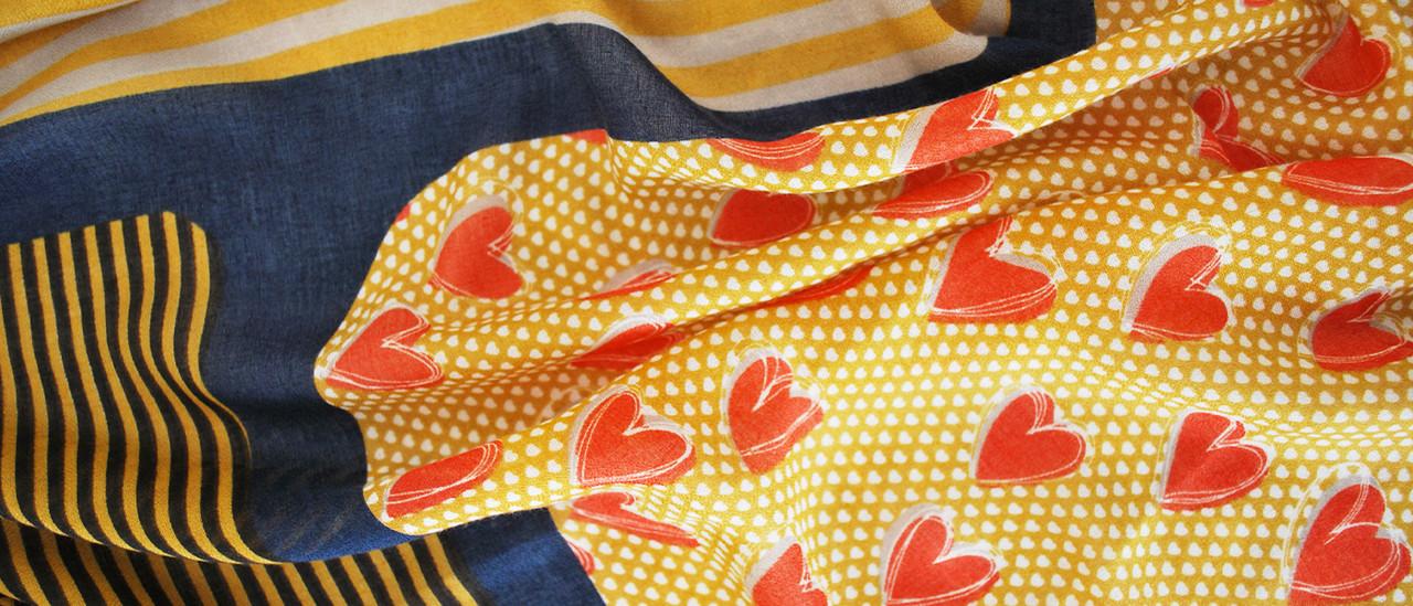 lagom daisy heart scarf