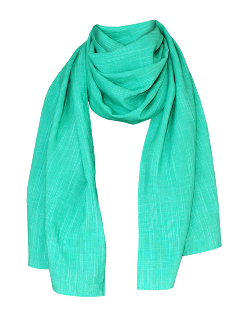 Lagom Capetown Scarf Mint Green front lifestyle view on white background