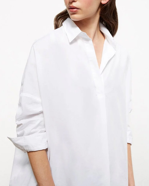 Lagom Ostuni Oversized Cotton Shirt, white, £55