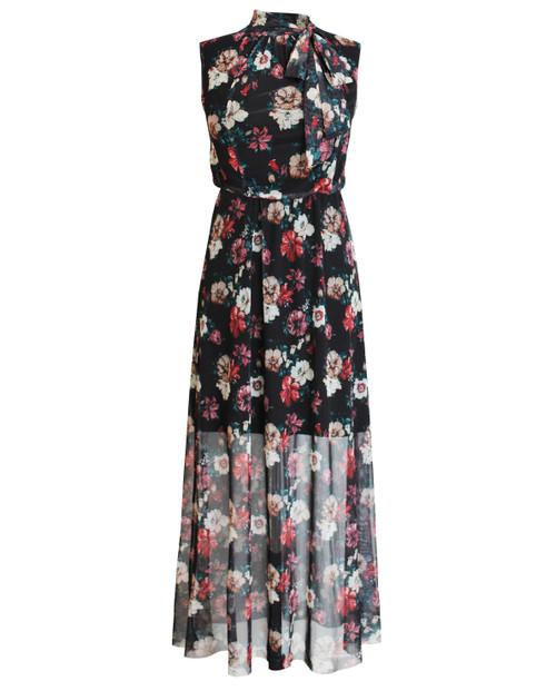 Lagom Puglia Floral Mesh Maxi Dress Black, £68