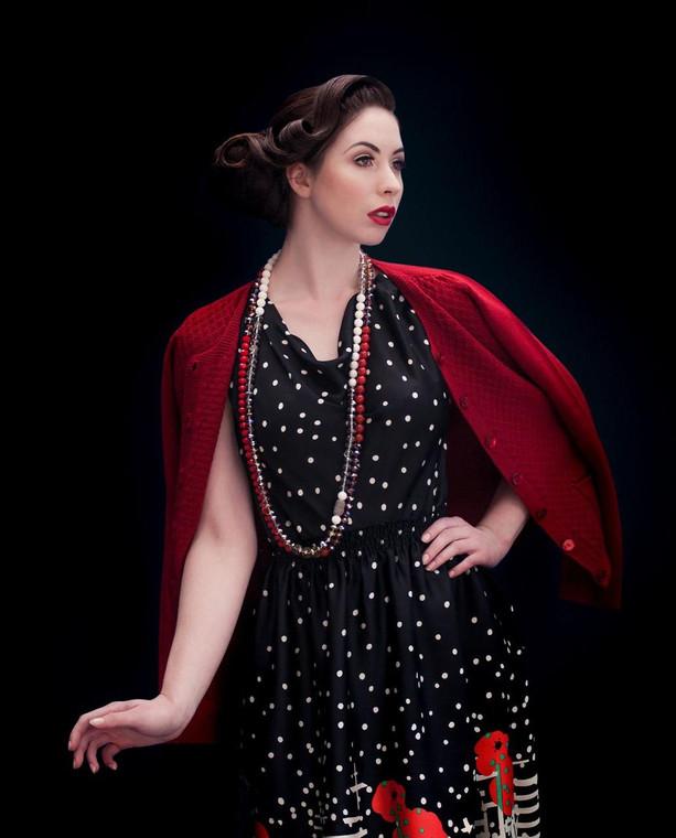 Lagom Elena Extra Fine Merino Wool Cardigan Red