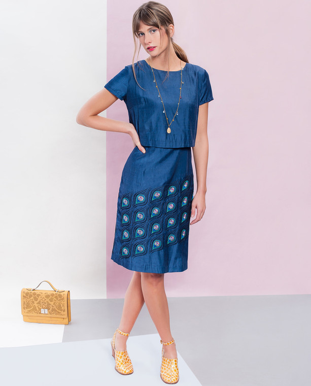 Peacock Dress Blue