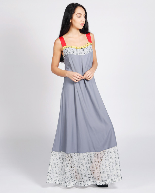 Portofino Maxi Dress Grey