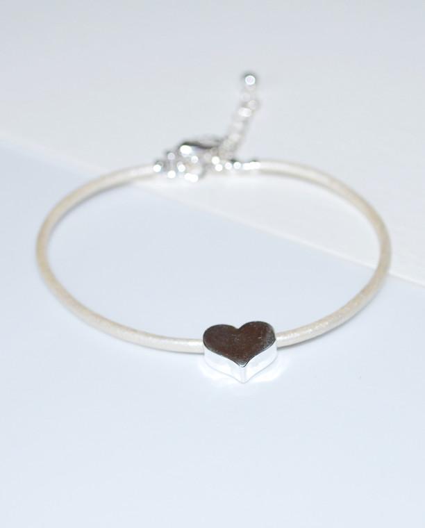 Rachel Heart Leather Cord Bracelet