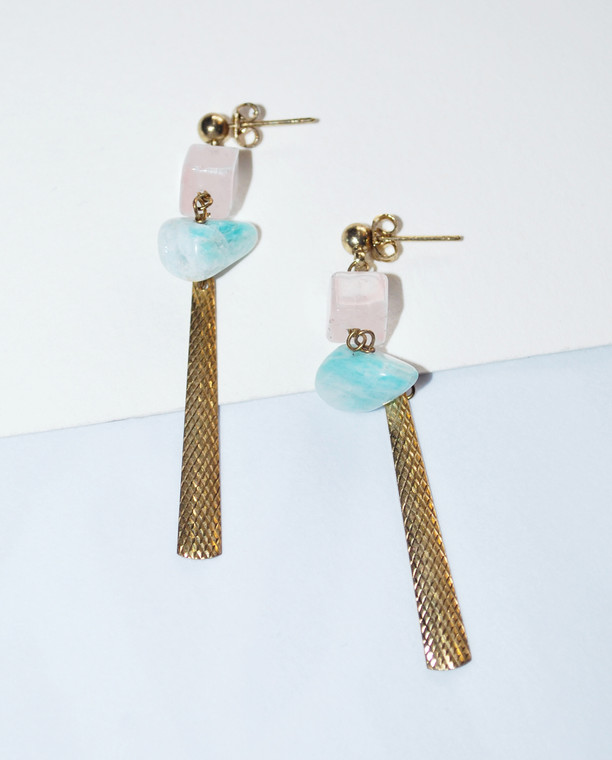 Rosie Boho Turquoise Earrings