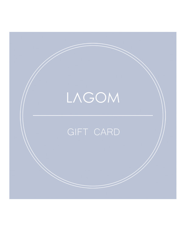 lagom gift card detailed view