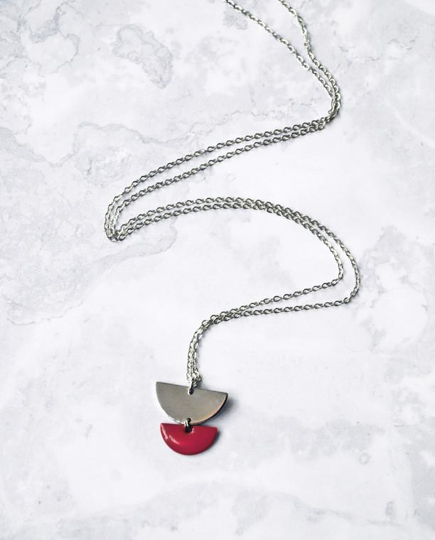 Venus Long Necklace Silver