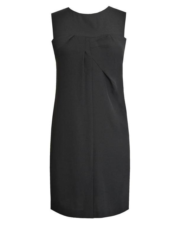 Lagom Nera Shift Dress Black, front view, £75