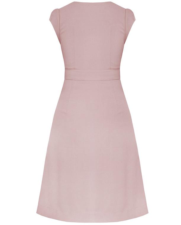 Valentina Dress Blush Pink with side pockets