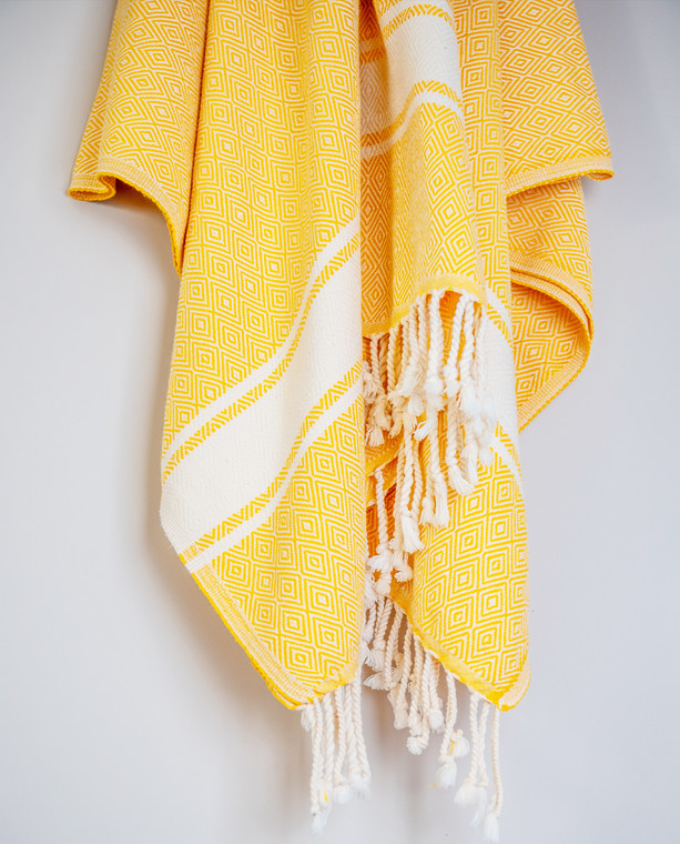Gaia Pure Peshtemal Hamam Throw Yellow