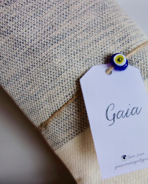 Gaia Pure Peshtemal Cotton Throw Black-Natural