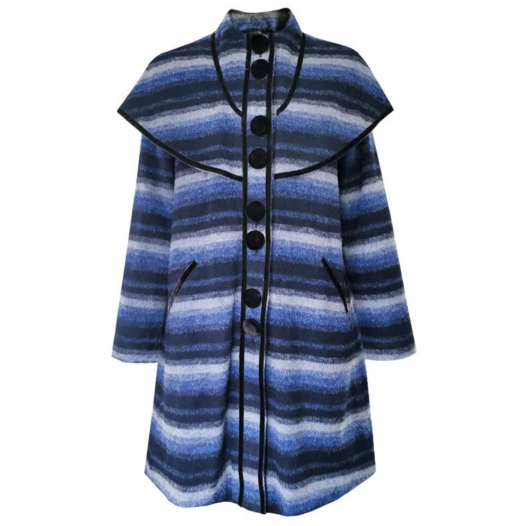 Izmir Trapeze Wool Coat Blue