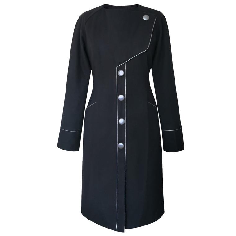 Clara Recycled Wool Coat Black
