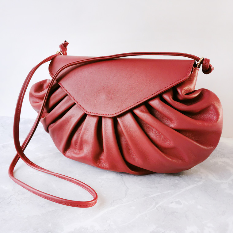 Candy Leather Bag Red