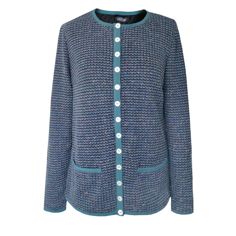 Liza Cardigan Jacket Blue-Mix