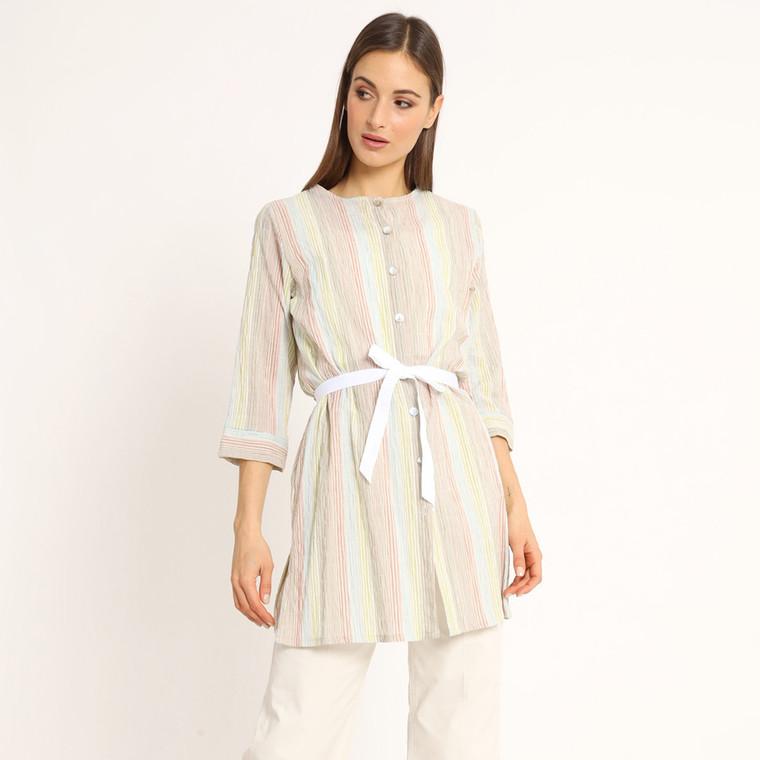 Lagom Prague Long Striped Cotton Shirt