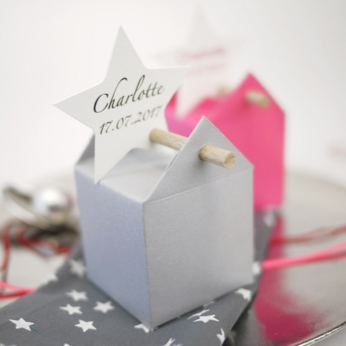 Customized favour box with star