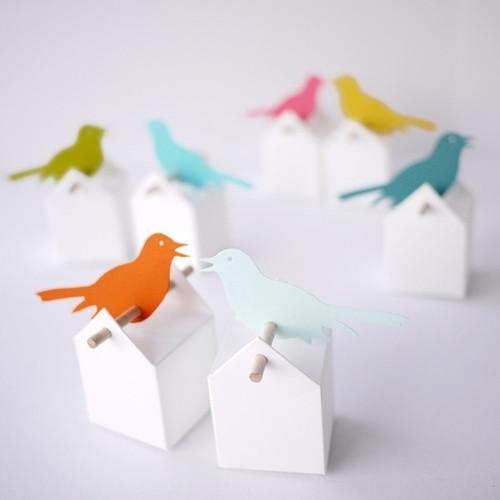 Bomboniere uccelli canterini