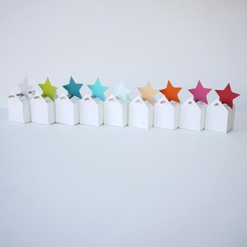 Set di stelle cadenti : 10 bomboniere ed etichette stelle