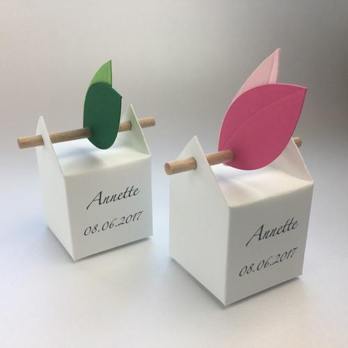 Set Campagnolo personalizzato, 10 bomboniere ed etichette foglie