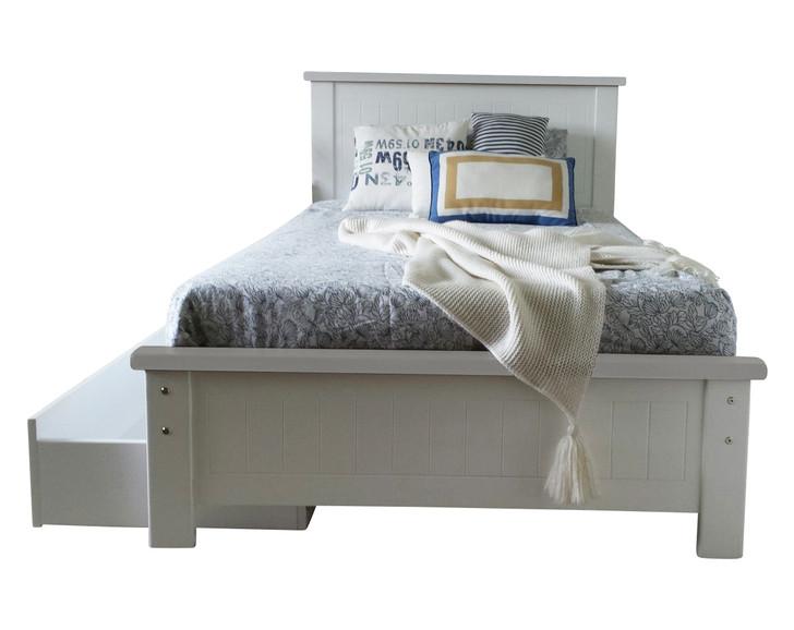 WHITE RABBIT King Single Bed  with 1 storage drawer