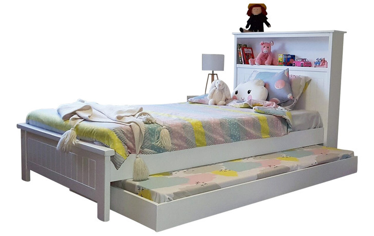 Bookend king single bed trundle