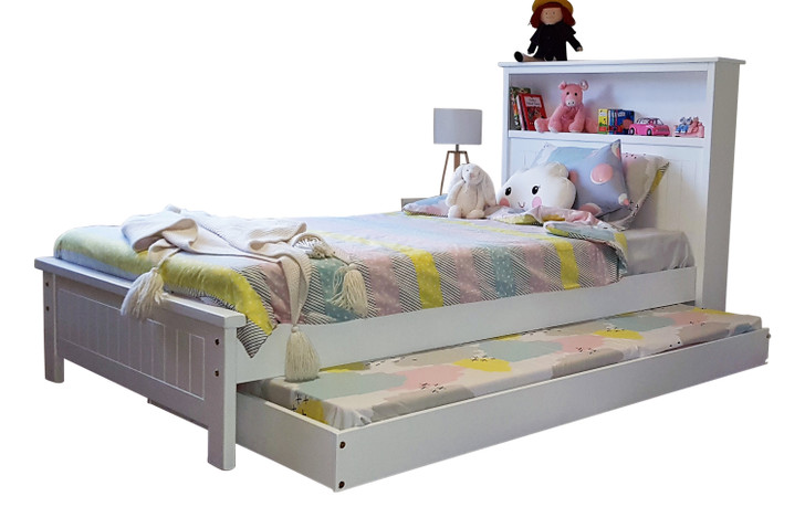 BOOKWORM King Single Bed & Single Trundle