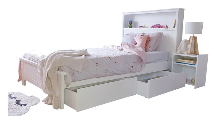 BOOKWORM King Single  with 2 underbed storage drawers