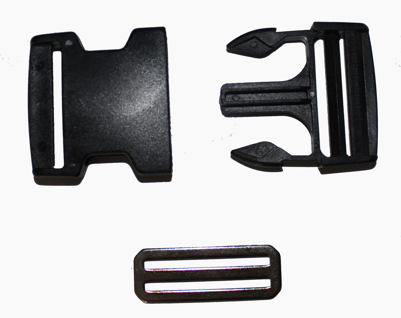 50mm side release buckle and industrial plastic glide for adjusting the strap
