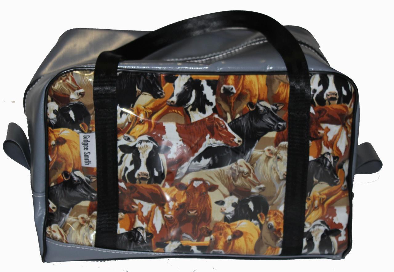 Dance Bag Fabric/PVC  35cm L X 22cm W X 25cm H