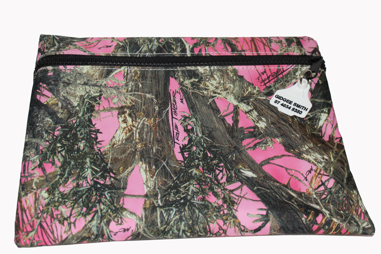 Truckies Wallet covered with Pink Camo Print