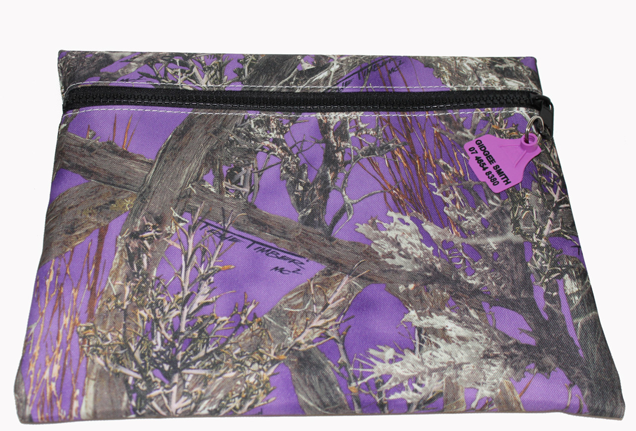 Truckies Wallet covered with Purple Camo Print