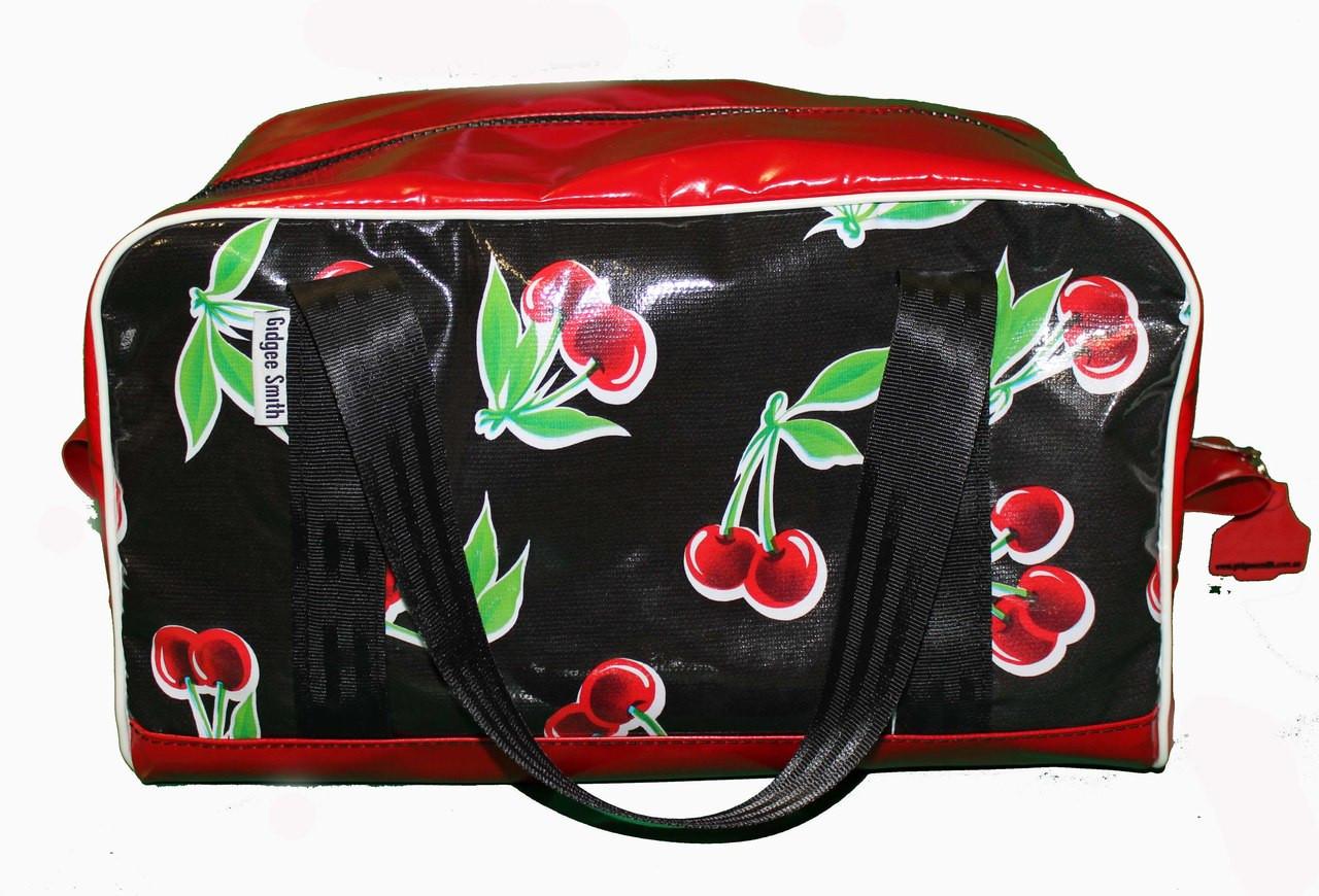 Overnight Bag Oil Cloth 60cm L X 29cm W X 29cm H