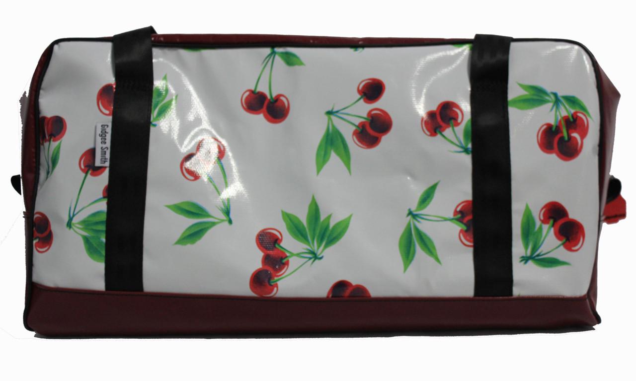 Overnight Bag Oil Cloth Australian Made 60cm L X 29cm W X 29cm H