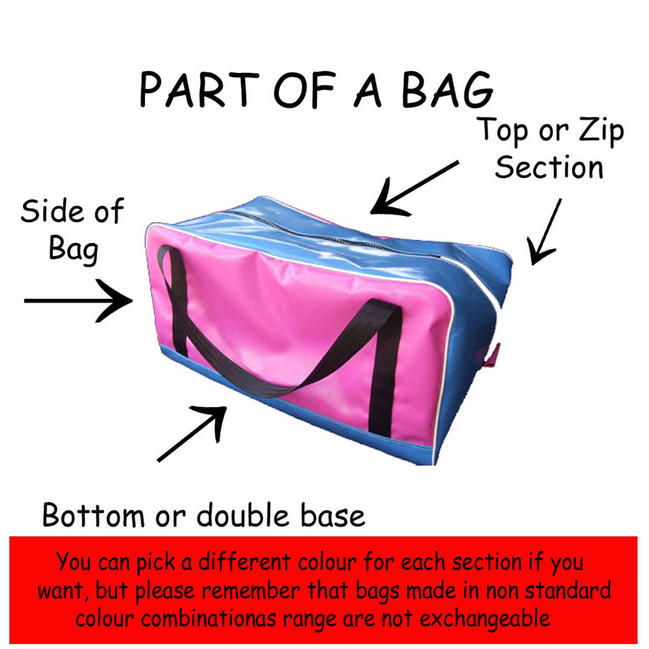 Oil Cloth Single Saddle/Work bag 60cm L x 37cm W x 41cm H