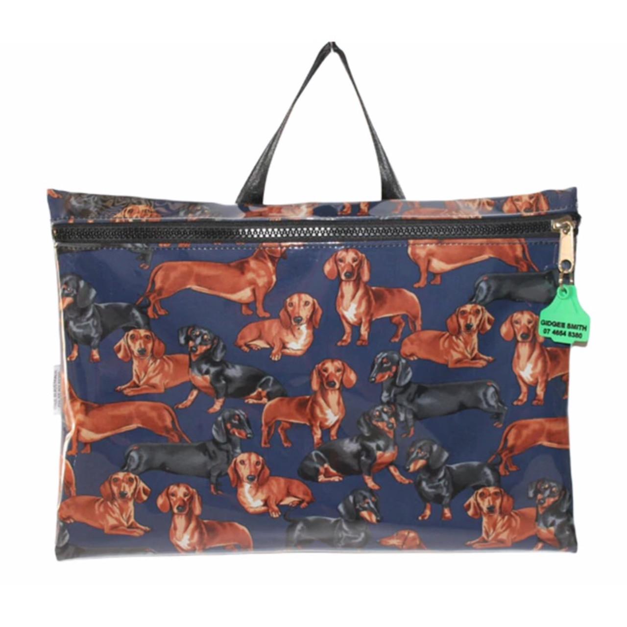 Library Bag  fabric finish 47cm L x 33cm H Australian Made pvc gear bags