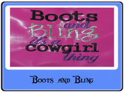 EMB Boots and Bling Carryon bag and larger