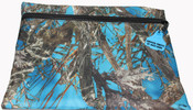Truckies Wallet covered with Blue Camo Print